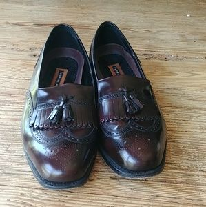Men's all leather Florsheim loafers shoes size 14